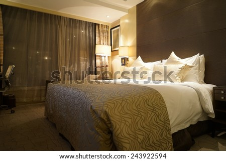 Hotel room Interior. - stock photo