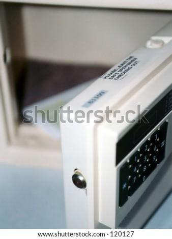 Hotel room safe - stock photo