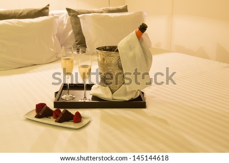 Hotel room shot - Honeymoon concept