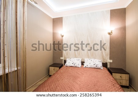 Small Bedroom With Double Bed small bedroom stock images, royalty-free images & vectors