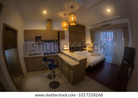 Hotel room  vacation concept background