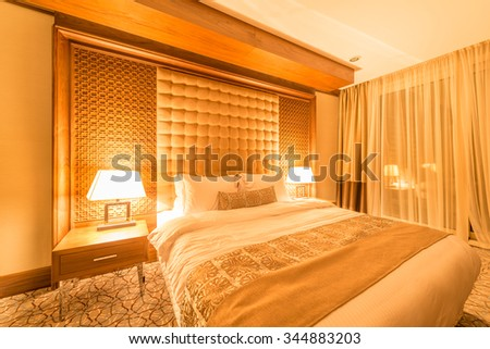 Hotel room with modern interior