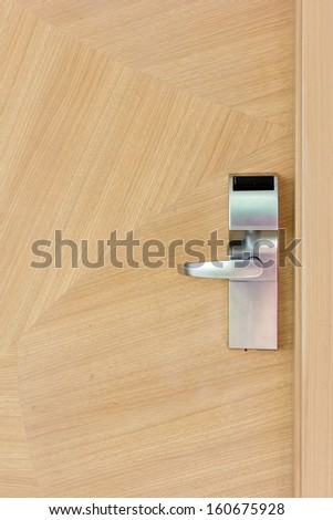 Hotel security door locks - stock photo