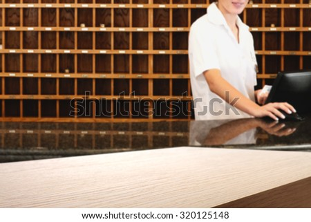 hotel top space  - stock photo