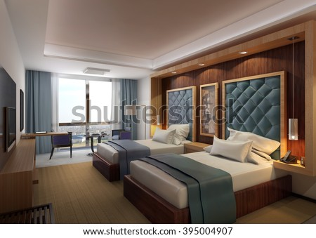 Hotel Twin Bed Room 1