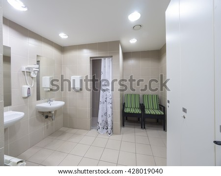 Hotel wellness bathroom - stock photo