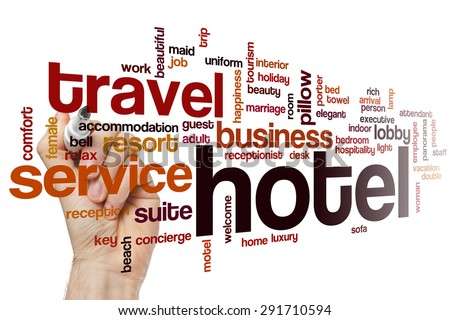Hotel word cloud concept - stock photo