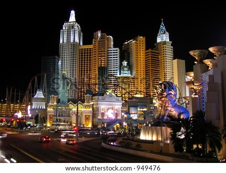 hotels at las vegas, USA - stock photo