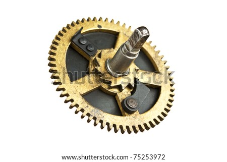 hour gear isolated on white background