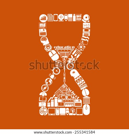 hourglass icon - stock photo