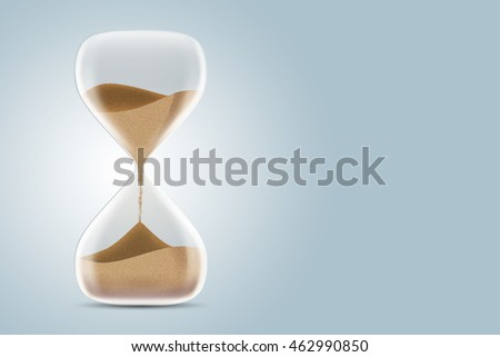 Hourglass isolated on white background. 3d illustration.