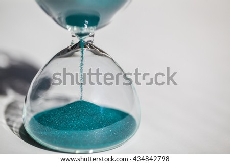 Hourglass on white background. sandglass. - stock photo