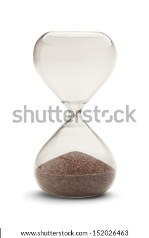 Hourglass out of time Isolated on White Background.