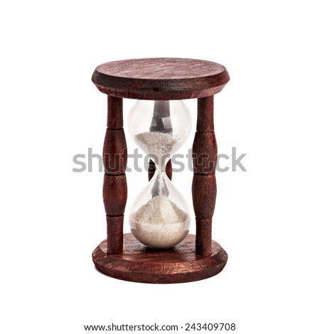 hourglass, sandglass, sand clock - stock photo