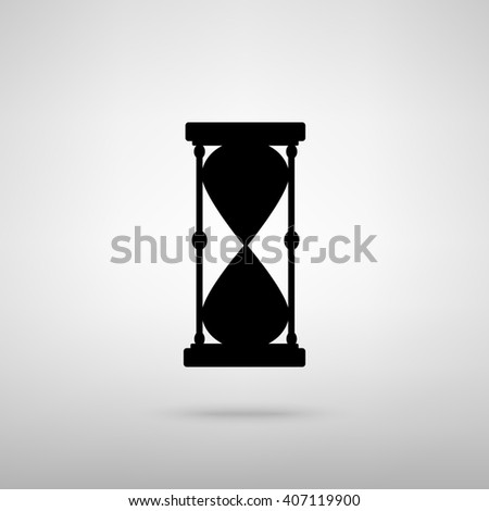 Hourglass sign. illustration
