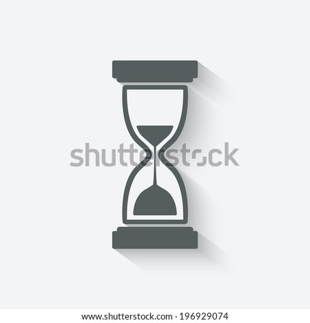 hourglass time icon - stock photo