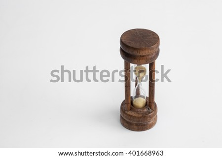 hourglass white background