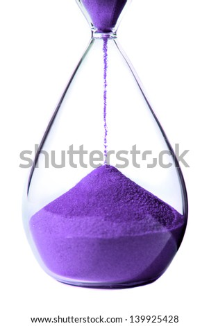 Hourglass with lilac sand
