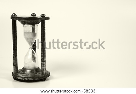 Hourglass With Whitespace To Right