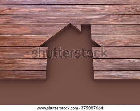 House abstract wooden - stock photo