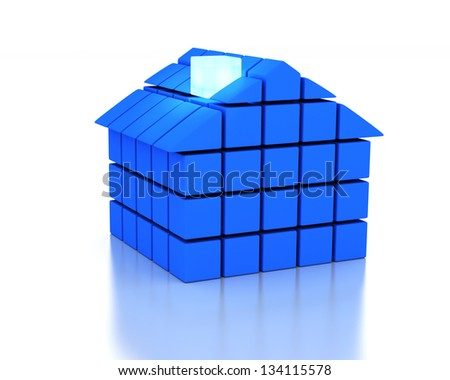 House and energy concept - stock photo