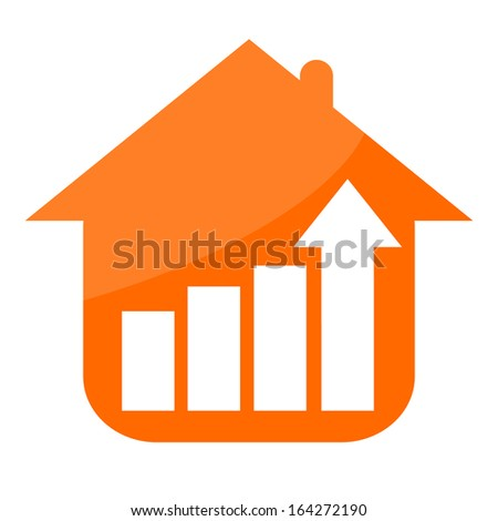 House and growing business stats - stock photo