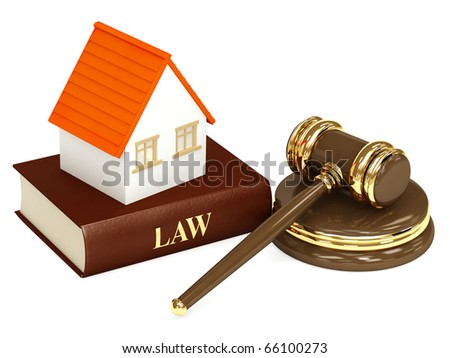 House and law. Object isolated over white - stock photo