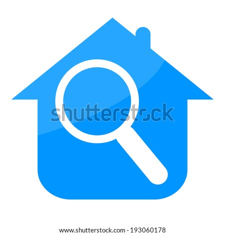 House and magnifying glass - stock photo