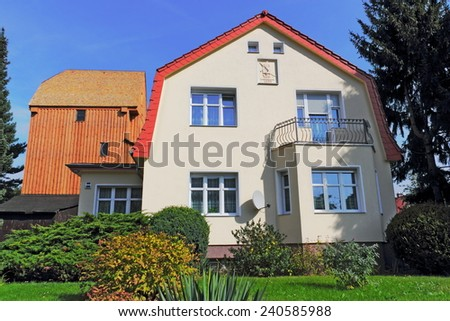 House and Mill - stock photo