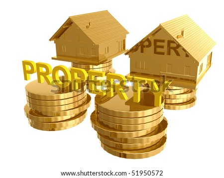 House and property investment icon symbol 3d illustration