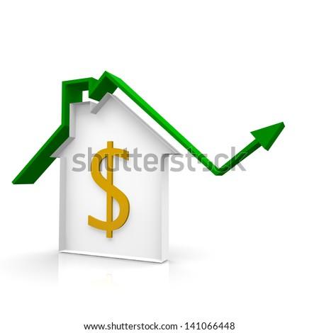 House arrow - stock photo