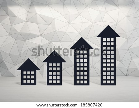 House arrow graph - stock photo