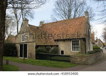 House at Ameland  - stock photo