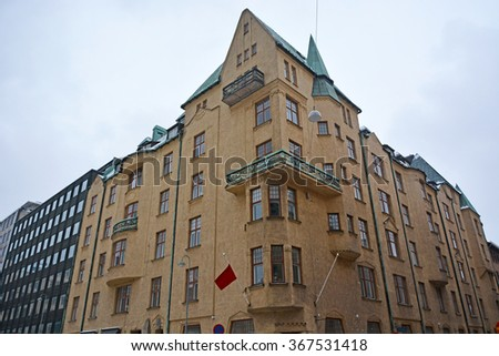 House at Helsinki, Finland - stock photo