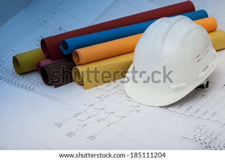 House blueprints - stock photo