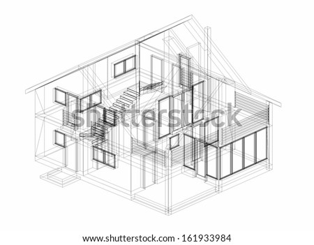house building  - stock photo