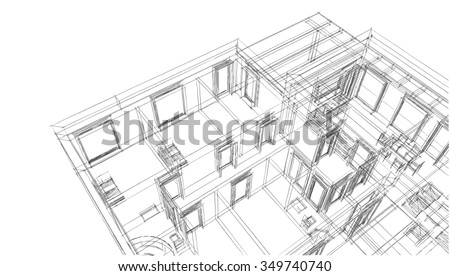 house building - stock photo
