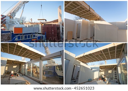 House building made by prefabricated parts