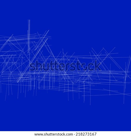 house building sketch background