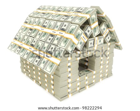 House built by American money - stock photo