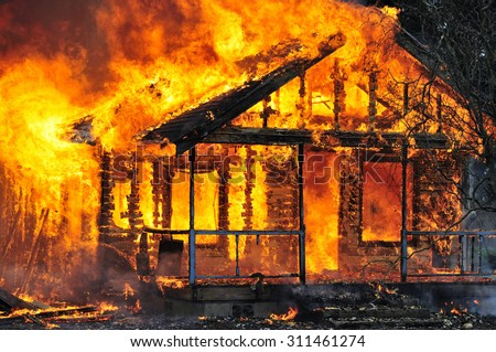 House burning