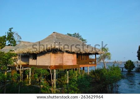 House by the sea - stock photo