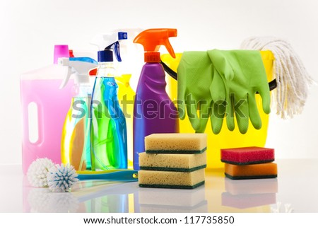 House cleaning product - stock photo