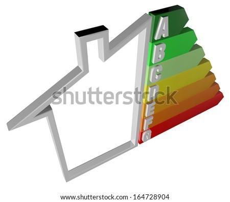 House, consumption, energy efficiency, energy saving, sale - stock photo