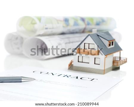 House contract - stock photo
