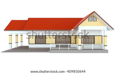 house 3d - stock photo