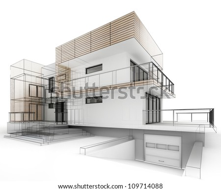 House Architecture Drawing architectural drawing stock images, royalty-free images & vectors