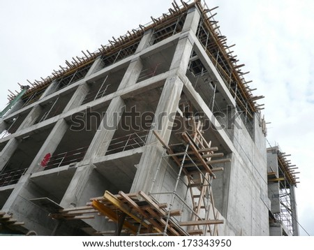 house develop at day in city - stock photo