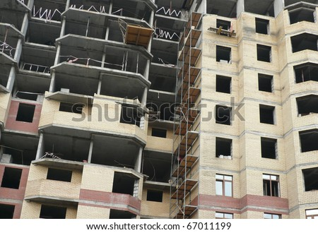house develop at dry day - stock photo
