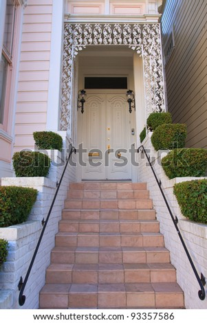 House entrance - example of San Francisco residential architecture